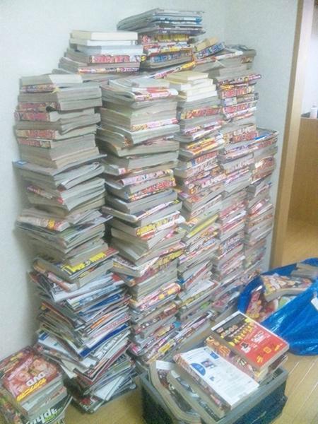 大量の雑誌