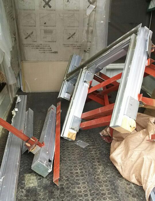 スケルトン工事に伴う廃材